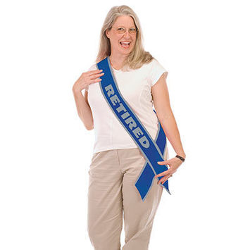 Retired Now The Fun Begins! Satin Sash picture