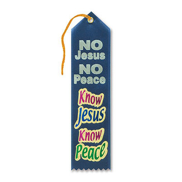 Know Jesus Know Peace Ribbon picture