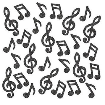 Musical Note Deluxe Sparkle Confetti picture