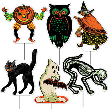 Plastic Vintage Halloween Yard Signs picture