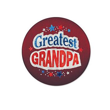 Greatest Grandpa Satin Button picture
