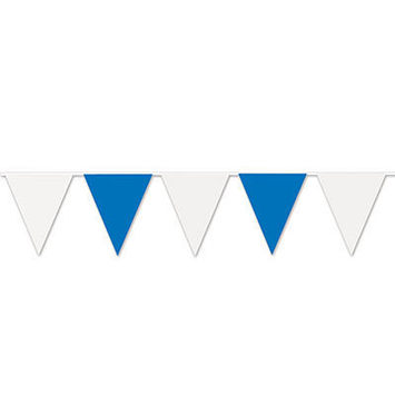 Blue & White Pennant Banner picture