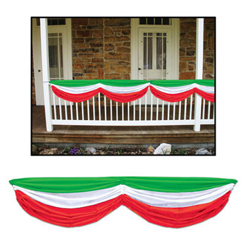 Red, White & Green Fabric Bunting picture