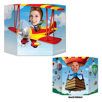 Biplane/Hot Air Balloon Photo Prop picture