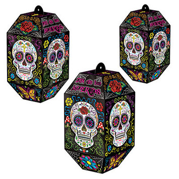 Foil Day Of The Dead Paper Lanterns picture