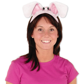 Plush Bunny Ears Headband picture