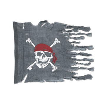 Weathered Pirate Flag picture