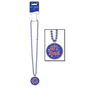 Beads w/Printed #1 Dad Medallion picture