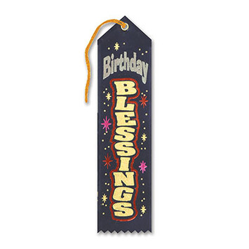 Navy Birthday Blessings Ribbon picture