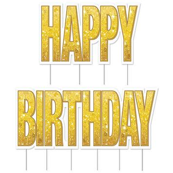 Plas Jumbo Happy Birthday Yard Sign Set picture
