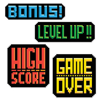 8-Bit Action Sign Cutouts picture
