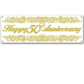 50th Anniversary Sign Banner picture