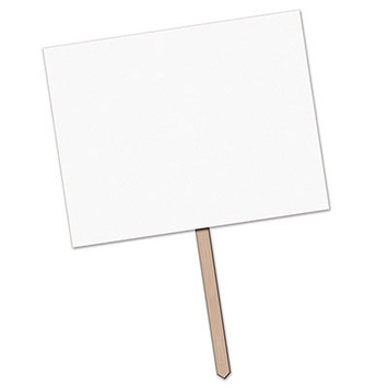 """Blank"" Yard Sign picture"