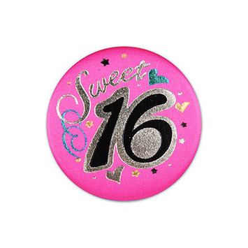Sweet 16 Satin Button picture