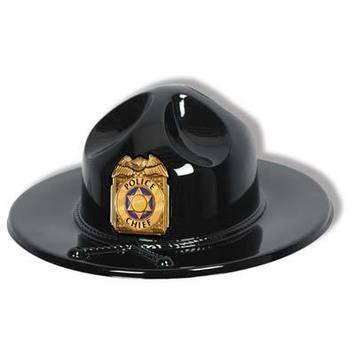 Black Plastic Trooper Hat picture