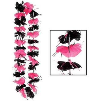 Pink & Black Party Lei picture