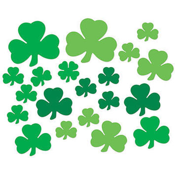 Printed Shamrock Cutouts picture