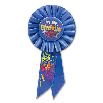 Blue It's My Birthday Rosette picture