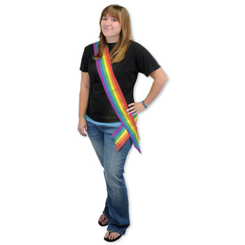Rainbow Satin Sash picture