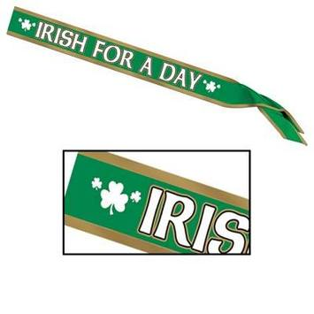 Irish For A Day Satin Sash picture