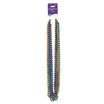 Mardi Gras Small Round Beads picture
