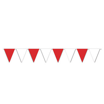 Red & White Pennant Banner picture