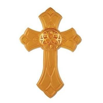 Gold Plastic Cross picture