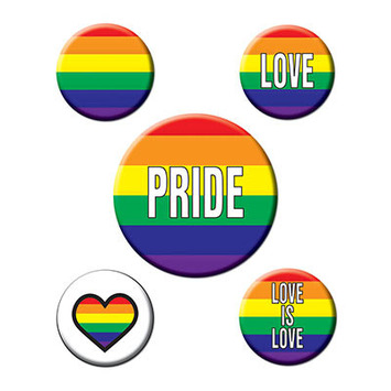 Rainbow Party Buttons picture