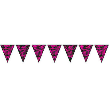 Zebra Print Pennant Banner picture