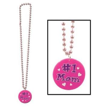 Beads w/Printed #1 Mom Medallion picture