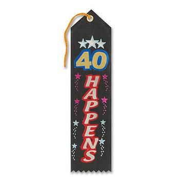 40 Happens Award Ribbon picture