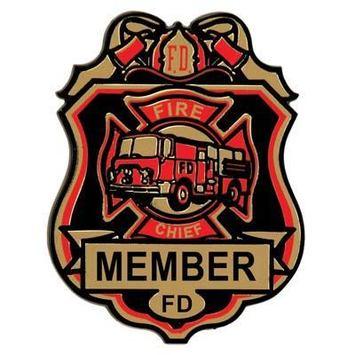 Fire Chief Plastic Badge w/Clip picture
