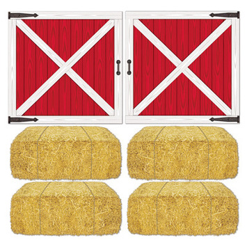 Barn Loft Door & Hay Bale Props picture