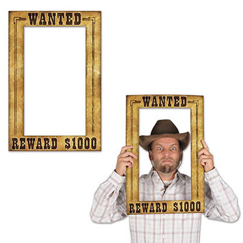 Western Wanted Photo Fun Frame picture