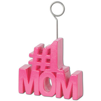 #1 Mom Photo/Balloon Holder picture