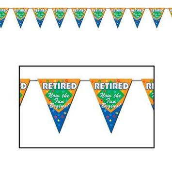 Retired The Fun Begins! Pennant Banner picture