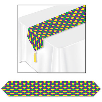 Printed Mardi Gras Table Runner picture