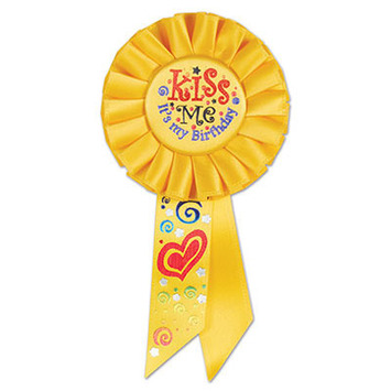 Kiss Me, It's My Birthday Rosette picture