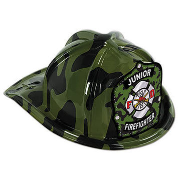 Green Camo Plastic Jr Firefighter Hat picture