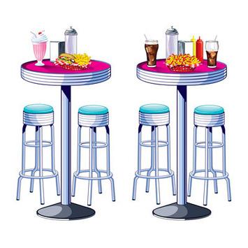 Soda Shop Tables & Stools Props picture