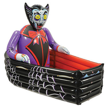 Inflatable Vampire & Coffin Cooler picture
