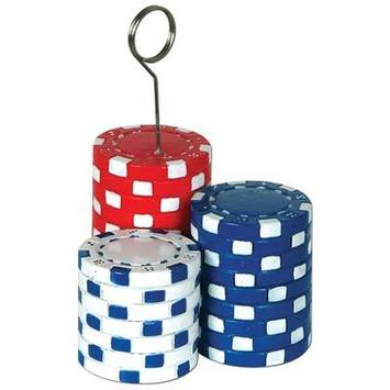 Poker Chips Photo/Balloon Holder picture