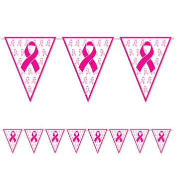 Pink Ribbon Pennant Banner picture