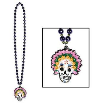 Beads w/Day Of The Dead Medallion picture