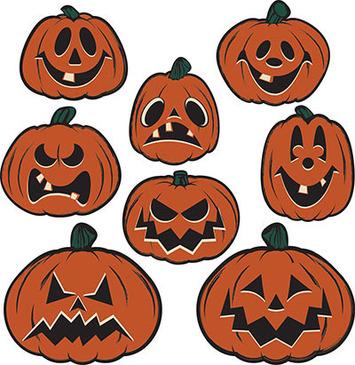 Vintage Halloween Pumpkin Cutouts picture