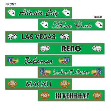 Gambling Destination St Sign Cutouts picture