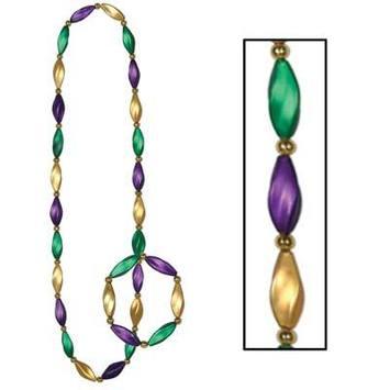 Satin Swirl Beads/Bracelet Set picture
