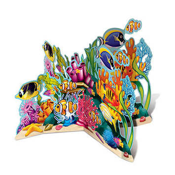 3-D Coral Reef Stand-Up picture