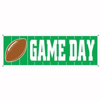 Game Day Football Sign Banner picture