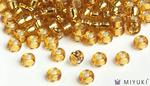 Miyuki 6/0 Glass Beads 4 - Silverlined Gold approx. 30 grams